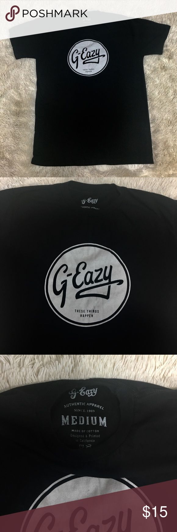 G-Eazy Concert Tee Like new! Black G-Eazy Concert T-Shirt. Medium size. Shirts Tees - Short Sleeve