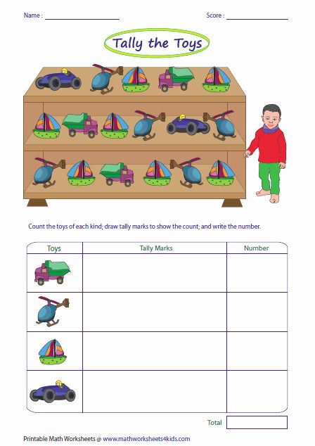 Kindergarten Tally Mark Worksheets