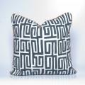 Kuba Kuba cushion cover in charcoal from Indigi Designs range at Congo Jo. Handmade and exclusive homeware.
