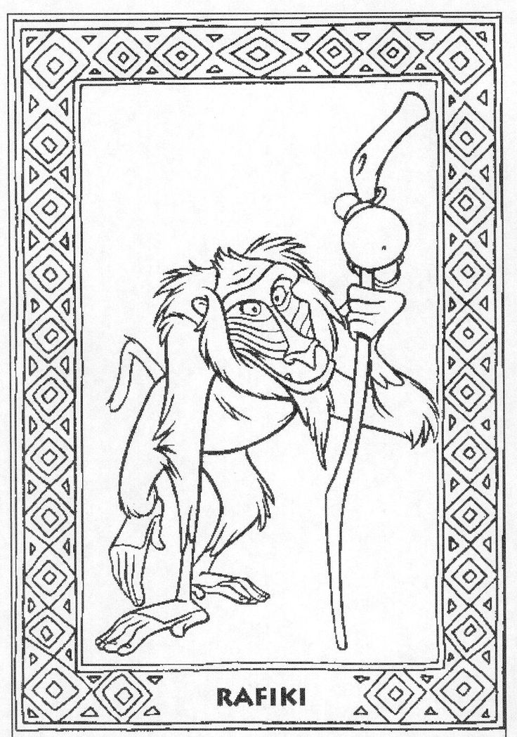 The Lion King Coloring Pages Colouring Printable Books Sheets