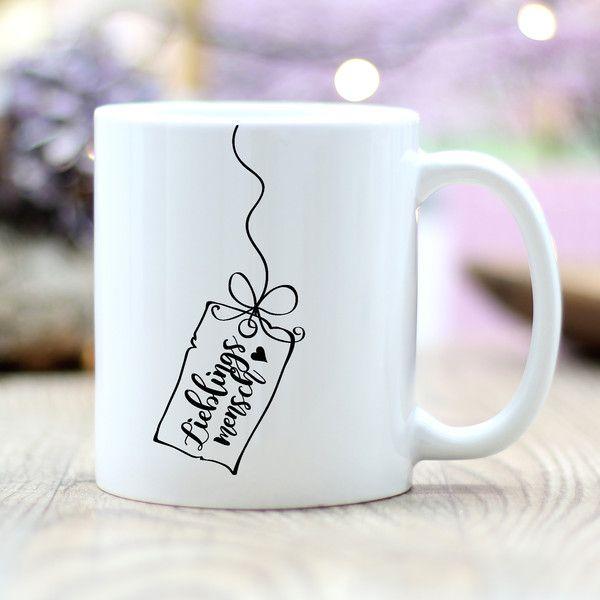 """Becher & Tassen – Keramik Tasse """"Lieblingsmensch"""" …"""
