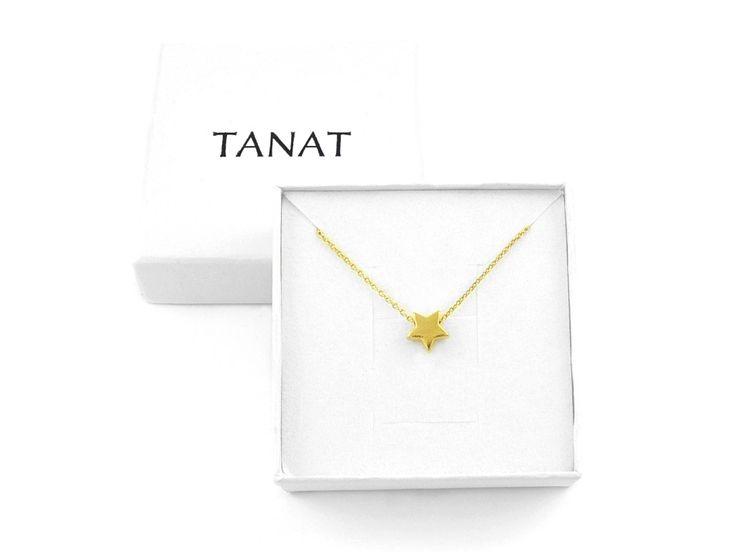 Pozłacany naszyjnik GWIAZDKA. Gold STAR necklace. http://www.tanat.eu/naszyjniki/1823-pz-naszyjnik-gwiazdka.html