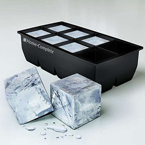 #1 Best Ice Cube Trays Molds - Giant 2 Inch Ice Cube Silicone Tray - Jumbo Whiskey and Cocktail Cubes. Cool gifts for whiskey lovers.