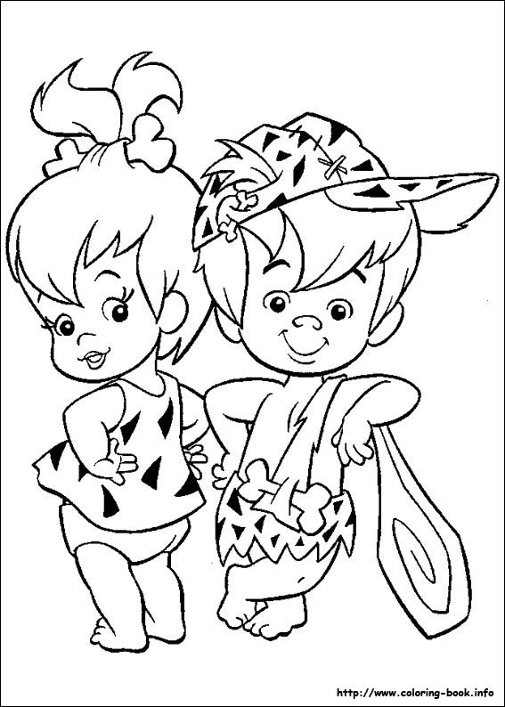 pebbles and bambam coloring pages - photo#27