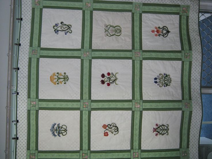 4th quilt made for the lady who did the brazilian emboidery.