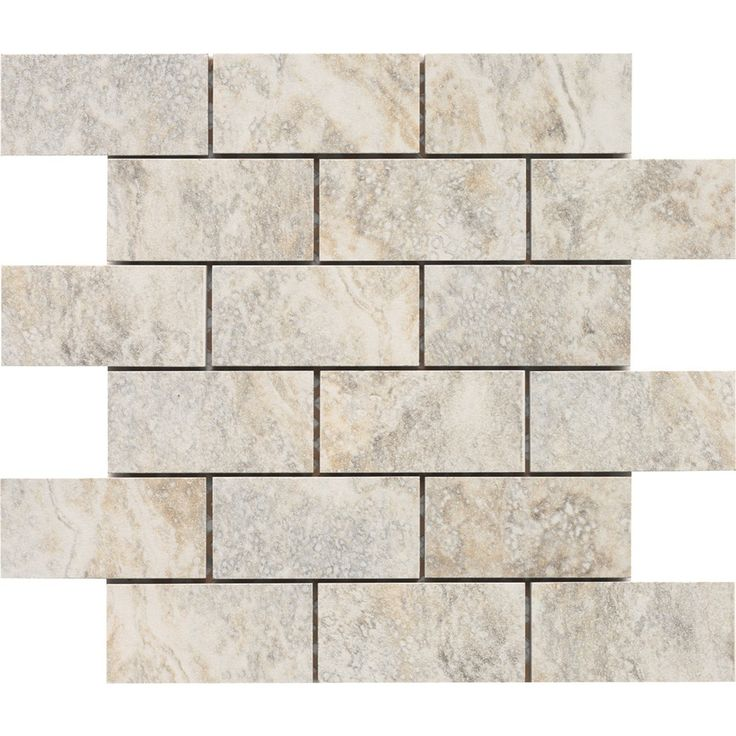 Shop Style Selections Floriana Heather Glazed Porcelain Mosaic Subway Wall Tile At