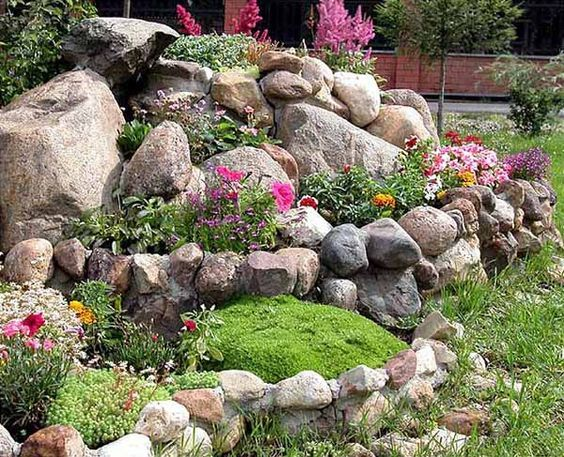 how to landscaping with rocks