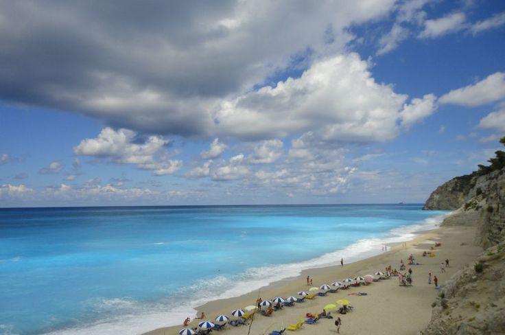 Leucade, la mer Ionienne, la plage Egremni