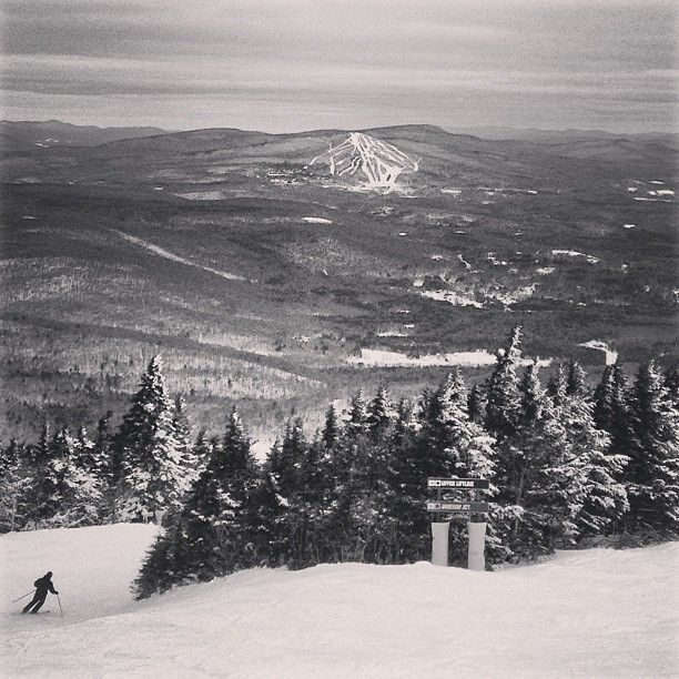 Lookin At Bromley From Stratton Vt Snow Mountains