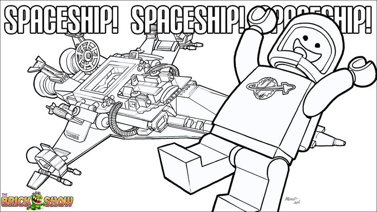 The LEGO Movie Coloring Page, LEGO Benny and His Spaceship
