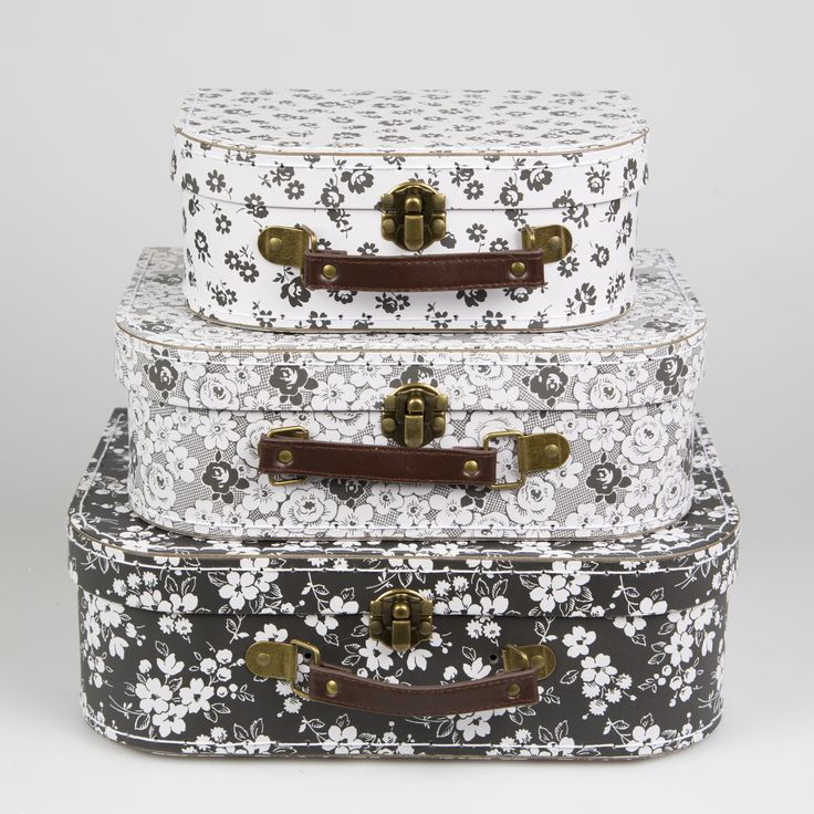 Parisian Floral Suitcases - Set of 3 Buy online here http://www.smallthings.gr/shop/bath-room/parisian-floral-suitcase-set-of-3/#.VMkOBy53AxI