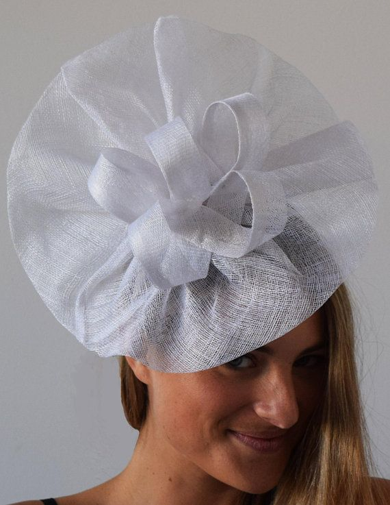 812629a84d341 TheHeadwearBoutique on Etsy ($65 USD)- Tia Large White Fascinator Kentucky  Derby, KY Oaks Hat 2018