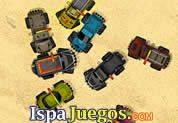 Juego de Monster Truck Survival | JUEGOS GRATIS: La batalla en la arena esta a punto de comenzar pero de grandes carros, carros monstruos están listo para la lucha, maneja con rapidez y habilidad y destrozar a todos los contrarios, ten cuidado que no te choquen mucho