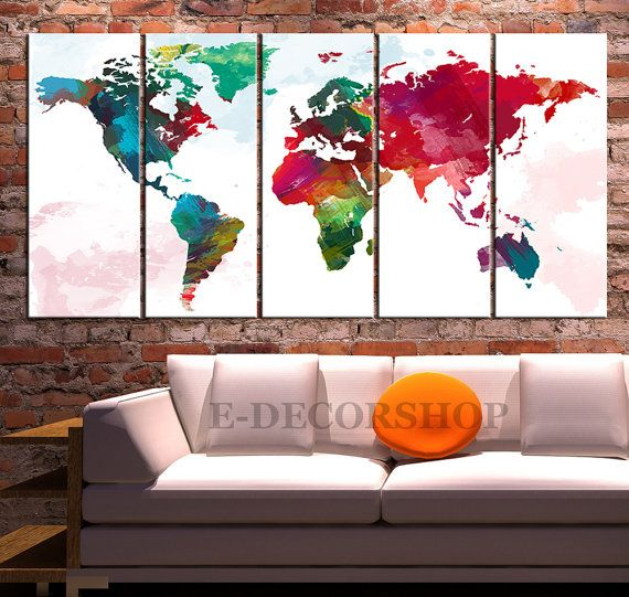 254 best canvas prints images on pinterest large walls canvas world map canvas print art driwing watercolor by edecorshop sketcher draw artworks art serrure heart color dali creation neo mae neotrad gumiabroncs Choice Image