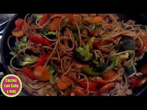 - Chow mein delicioso| espagueti chino | receta fácil | - YouTube