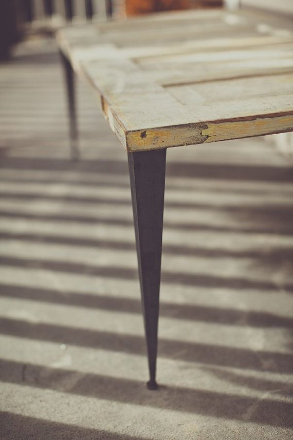 Tapered Angle Iron Leg  2 by ModernLegs on Etsy