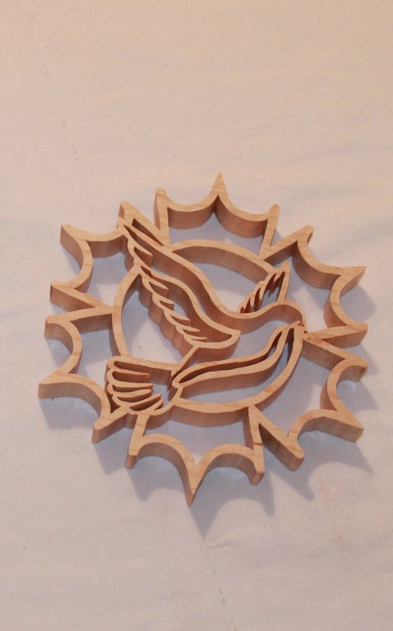 Scroll Saw Pattern: Dove Snowflake
