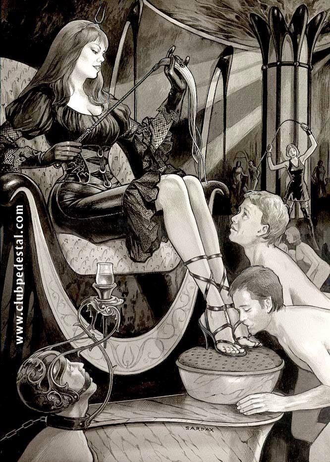 Femdom Kunst und erotische Zeichnungen