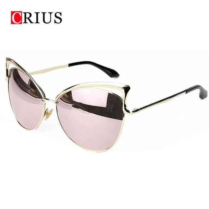 Cat eyes women's sunglasses for women women's sun glasses metal brand designer Vintage retro oculos de sol feminino 2017 new  #fashion #style #streetstyle #love #stylish #model #swag #iwant #pretty #glam