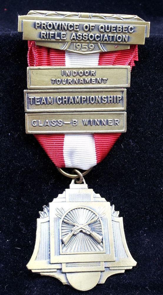 1959 Canada Quebec Rifle Association Medal Team Championship Class B Winner