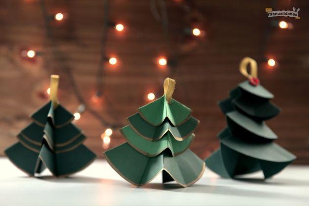 arbol de navidad con cartulina