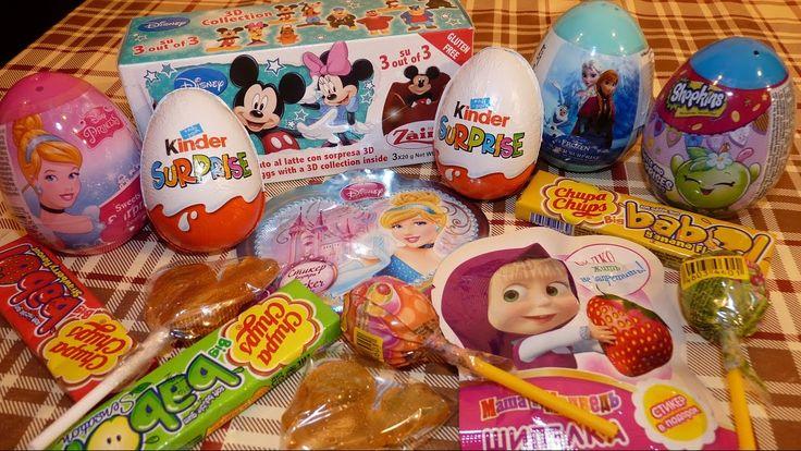 Сюрпризы Игрушки  Дисней принцессы Ариель, Золушка, Мики Маус, Холодное ...