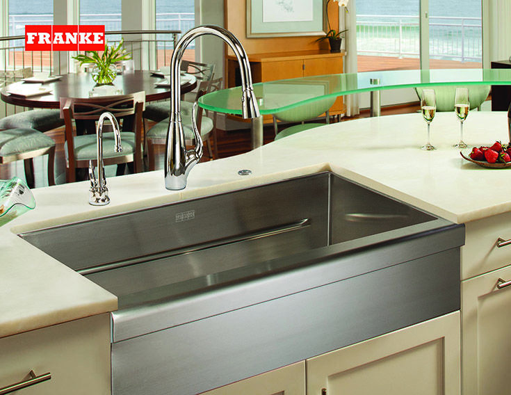 This undermount stainless steel sink by Franke gives you space while adding style to your kitchen!