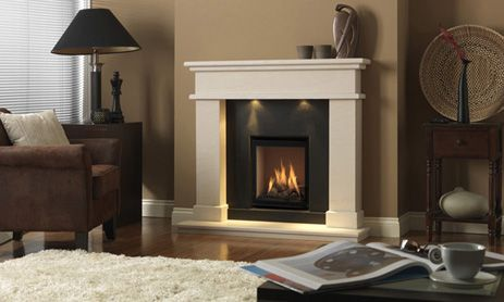 22 best mantel and corbels images on pinterest mantles for Fireplace surrounds for gas fires