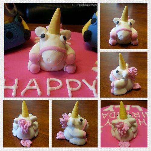 Unicorn - Despicable Me Unicorn made of fondant.