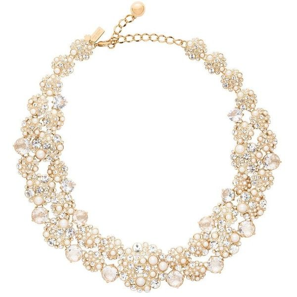 Kate Spade Pick A Pearl Statement Necklace ($298) ❤ liked on Polyvore featuring jewelry, necklaces, accessories, baroque pearl jewelry, kate spade, white pearl necklace, pearl necklace and bib statement necklace