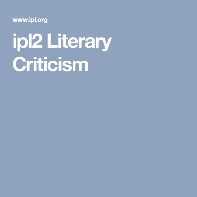 ipl2 Literary Criticism