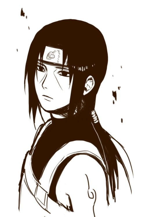 Itachi... It's sad that someone so young should look so old... You can tell he has seen a lot of bad stuff.