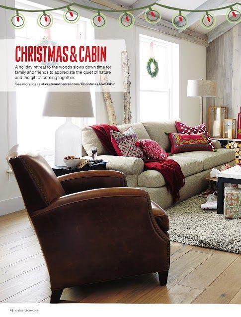 Crate & Barrel - Ellyson Sofa in Gunsmoke, $1799; Metropole Chair in Vintage, $1999; Heather 8x10 Shag Rug, $999.