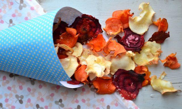 Gezonde snack: Groentechips uit de oven. Uit Pauline's keuken