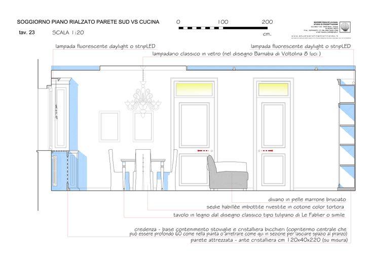 living & dining room elevation level 0 - Massimo Rinaldo architetto