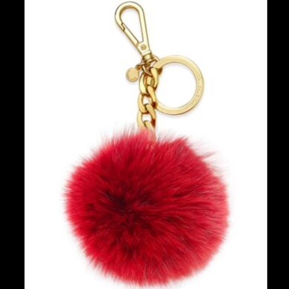 NWT Michael Kors red fur fluff pompom keychain BRAND NEW, NEVER BEEN USED. note that this is the smaller size of the MK fur keychains MICHAEL Michael Kors Accessories