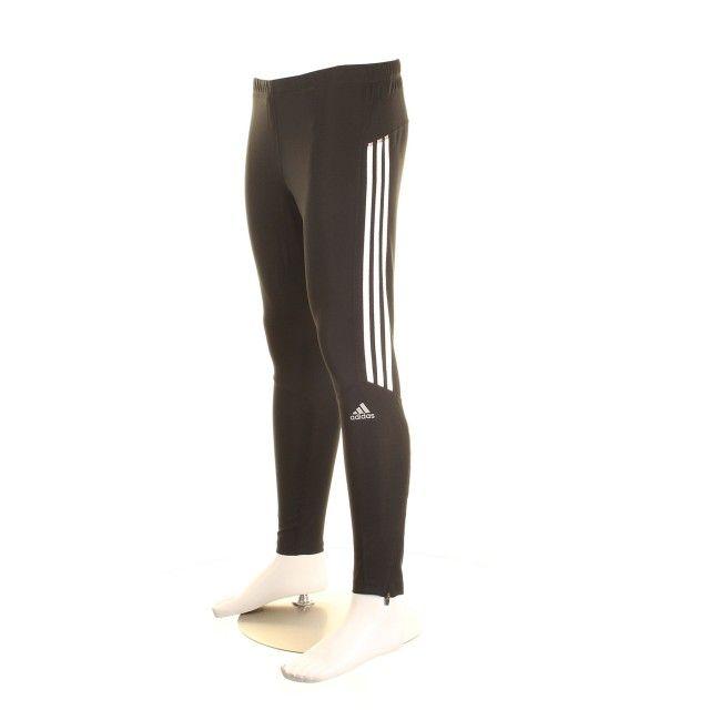 Adidas Mens Response Running Tights - Black / White
