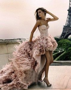 High-low Short Front Long Back Zuhair Murad Feather Wedding Dress Bridal Dresses | eBay