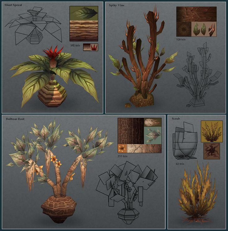 Low poly plants