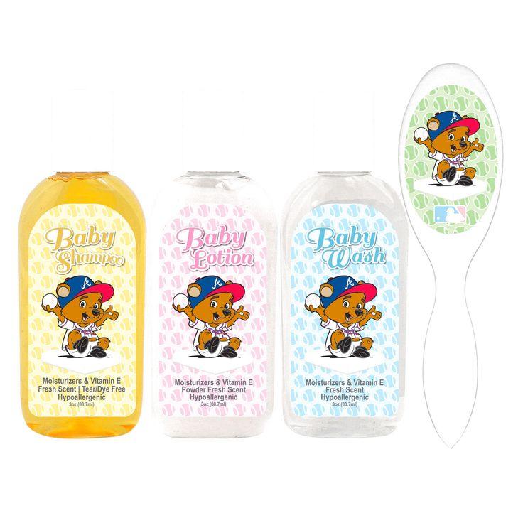 Atlanta Braves Newborn & Infant Baby Lotion and Soap Gift Set - $15.99