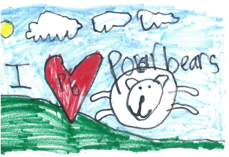 We love our supporters from all over the world. Kayleigh, age 6, sent this to WWF-UK.