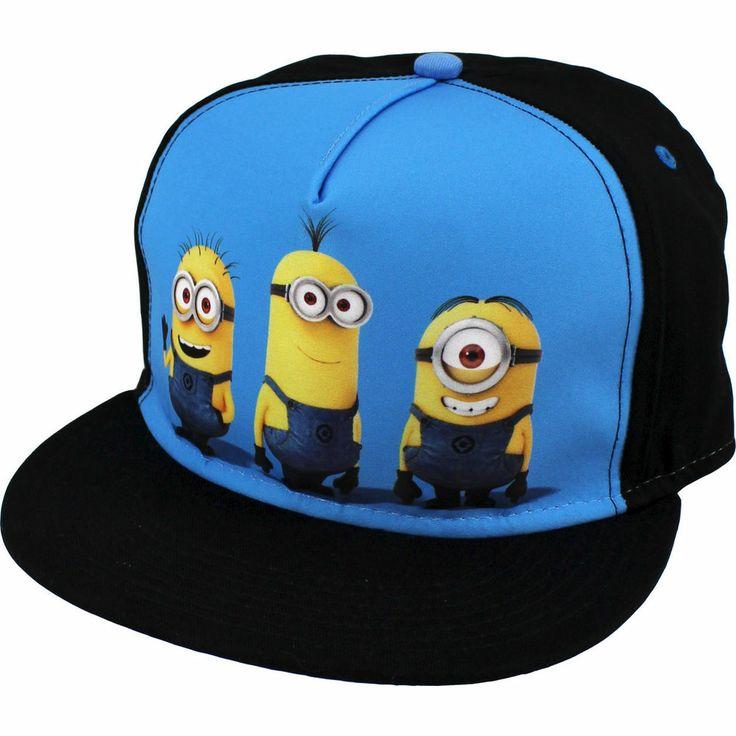 Despicable Me Minions Flat Bill Cap Hat F13DL16806AI One Size Fits Most Youth #UniversalStudios #FlatBillCap
