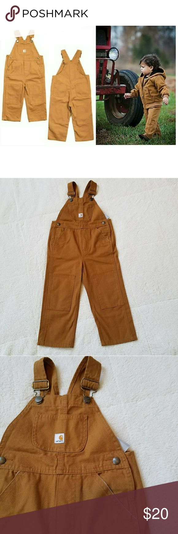 🆕🆕Kid's Carhartt Overalls Like New - worn once! 3T Carhartt Bib Overalls. Love these!! For Boys OR Girls! Carhartt Bottoms Overalls