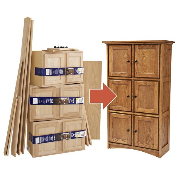 Creating Fine Furniture from Stock Cabinet, Woodworking How To Plan, Indoor Home Furniture Project Plan | WOOD Store