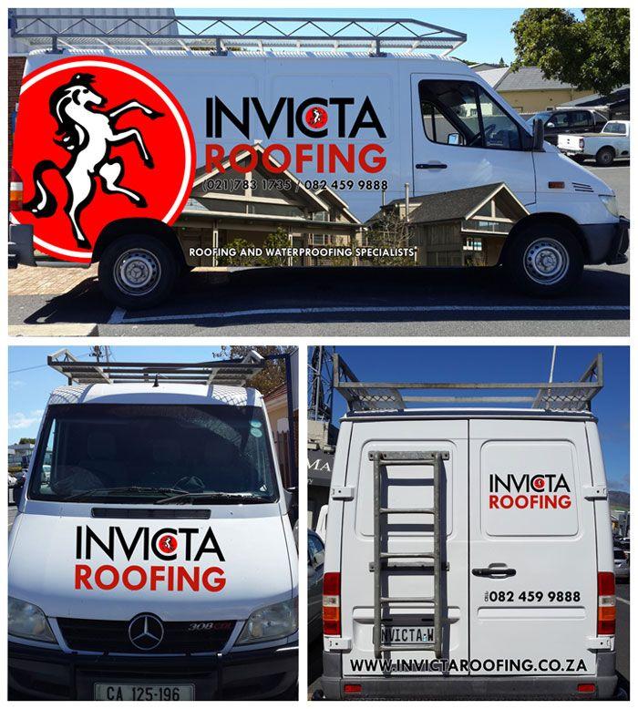 Invicta Roofing Vehicle Branding