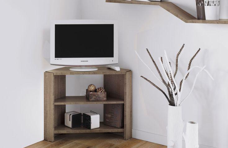 1000 id es sur le th me meuble tv angle sur pinterest for Meuble d angle salon bois