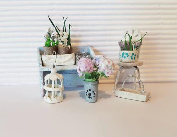 Dollhouse Miniatures Decor 1:48 scale Quarterscale Clutter
