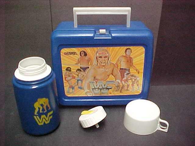 Vintage hulk hogan wrestling 80's #lunchbox w/ #thermos #andre the giant old toy ,  View more on the LINK: 	http://www.zeppy.io/product/gb/2/162290443323/