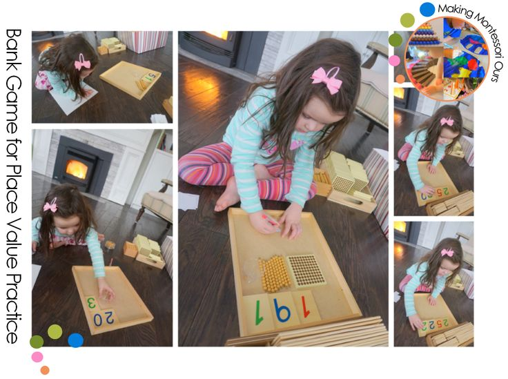 """Making Montessori Ours"": Early Bank Game for Place Value Practice"