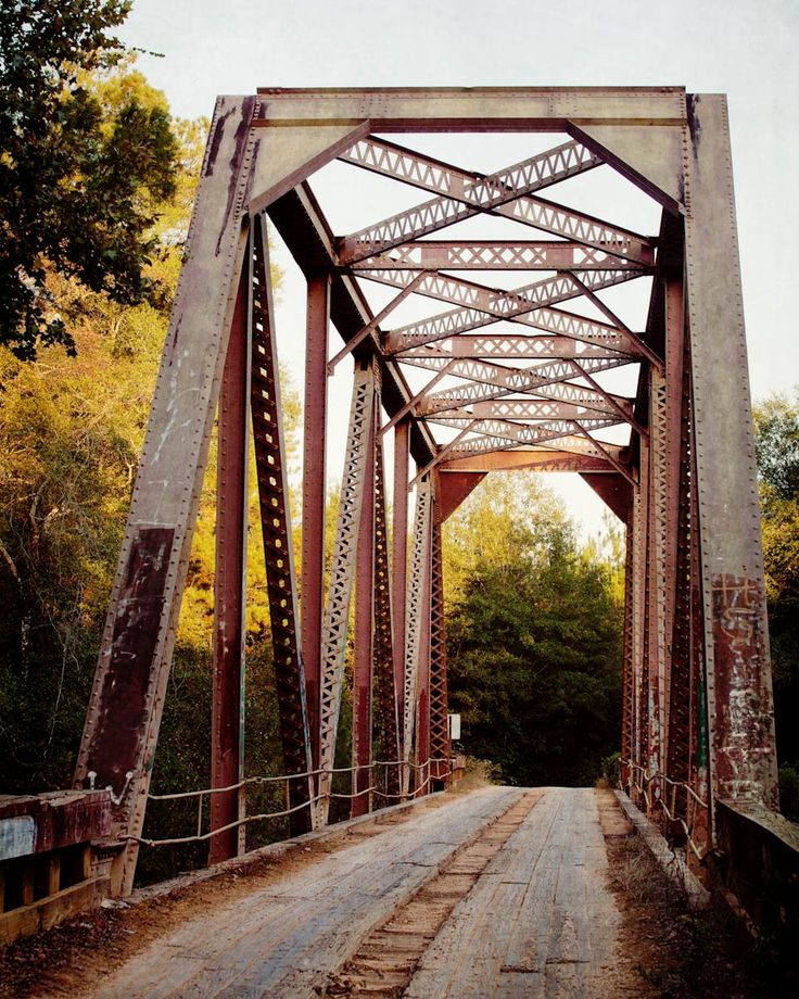 Rustic Industrial Fine Art Photography Print Old Steel Bridge Alabama Photograph Large Living Room Wall Art. PRINT SIZE: Choose your size from the drop down menu. PRINTING: Photographs are printed on Kodak Endura Paper. Frame and mat shown are for illustrative purposes only and are not included. All photographs are unmatted and 11x14 and under are signed on the back with acid free archival ink. SHIPPING: All smaller prints are shipped in a rigid mailer via USPS. Please allow at least 2…